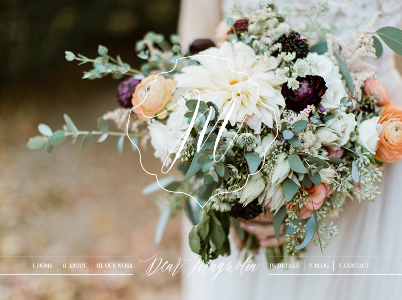 Showit5 website and Adobe Marketing templates designed specifically for the wedding floral designer