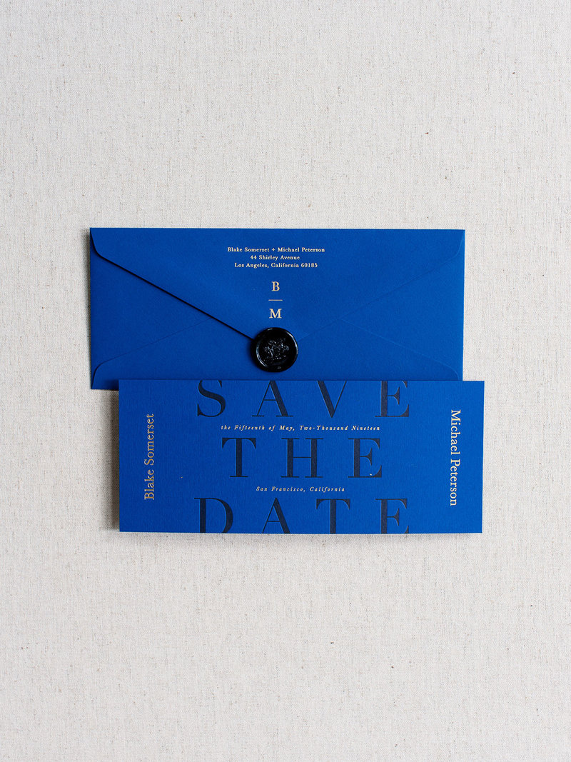 Semi-Custom Invitations - Midnight Gala Collection Save the Dates