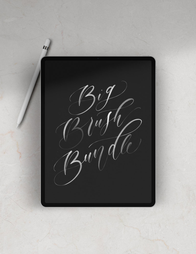 Procreate-Modern-Calligraphy-Brush-Bundle