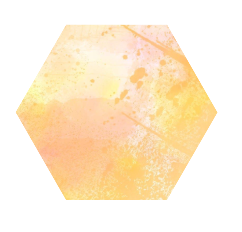Watercolor Hexagon Orange