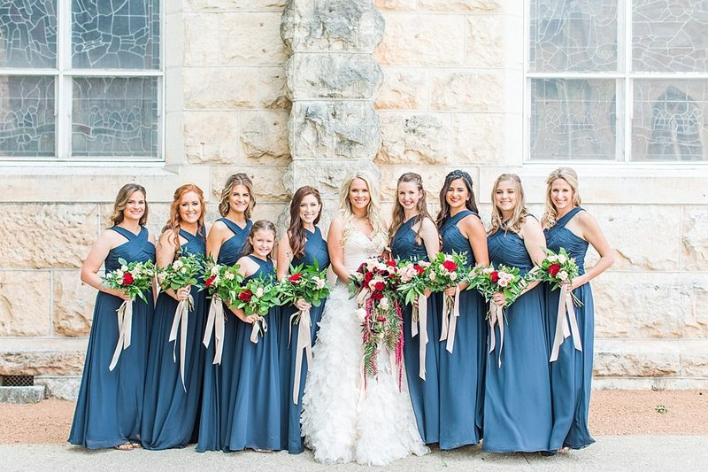 Wedding Ceremony at St Marys catholic church in Fredericksburg Texas and reception at National Museum of the Pacific war Nimitz in fredericksburg Texas Wedding Venue photos by Allison Jeffers Photography_0040