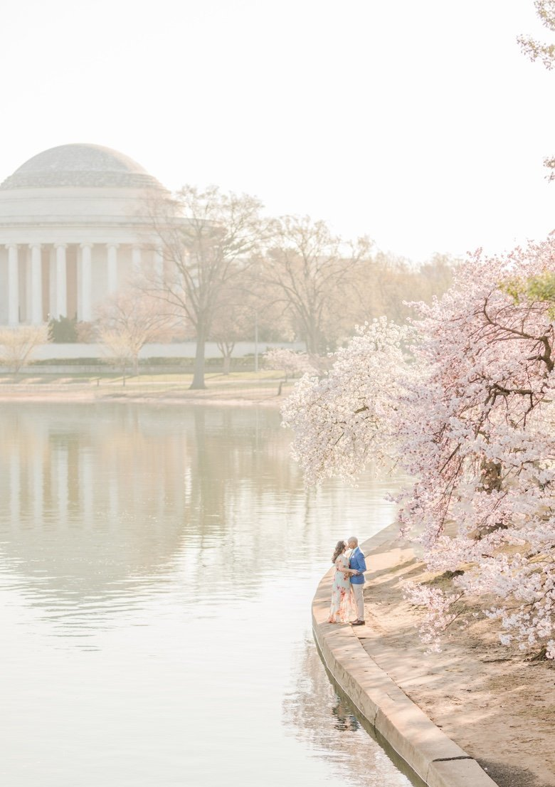 washington dc tidal basin engagement session during cherry blossom festival by costola photography