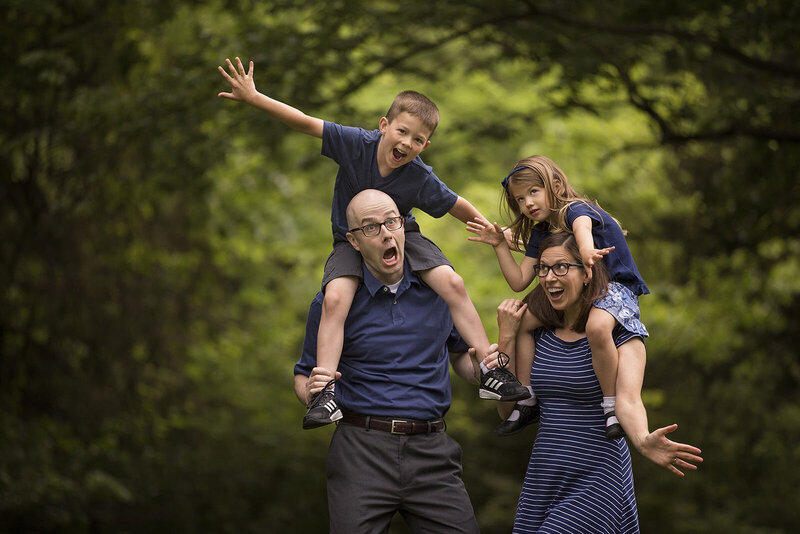 Super fun family lifestyle session