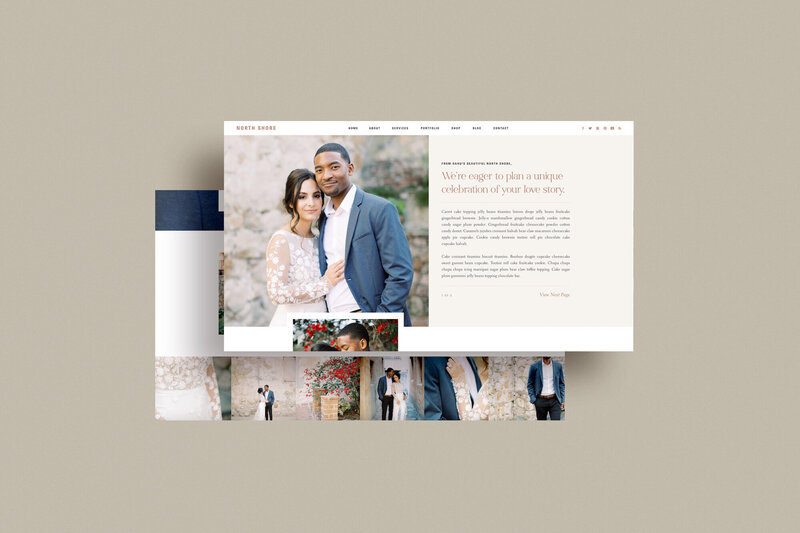 North Shore - Free Showit Website Template by With Grace and Gold