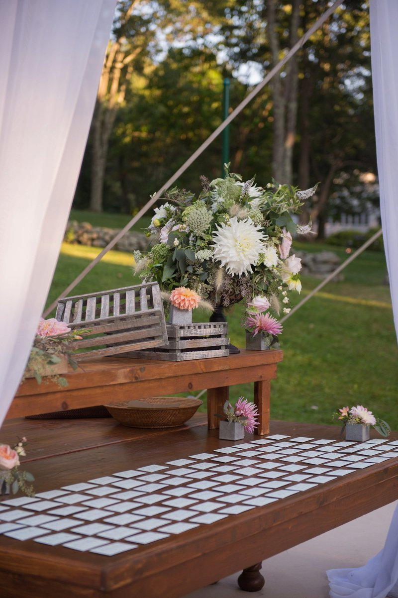 Clear top tented home wedding in Washington, Connecticut