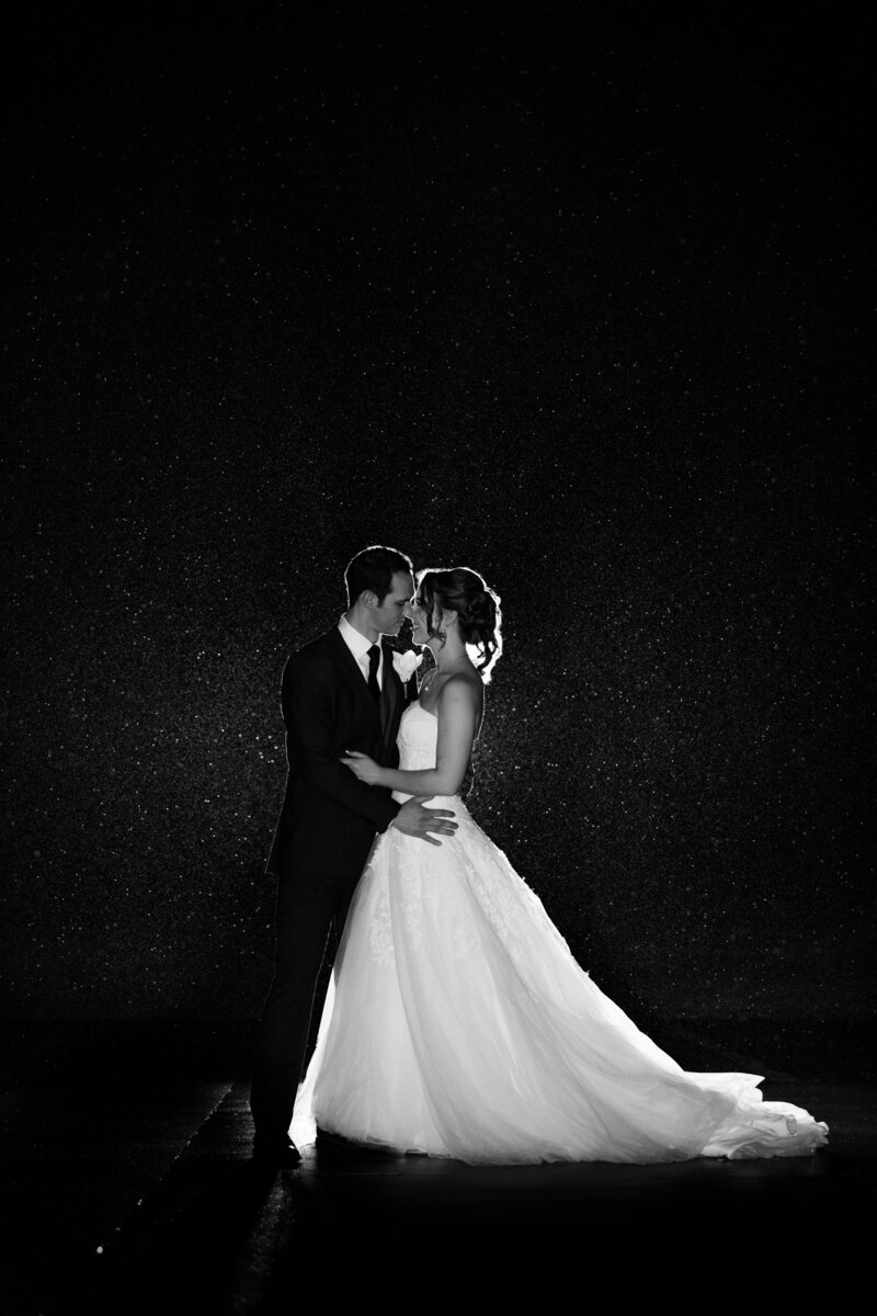 wedding photographer rain flash katie drew