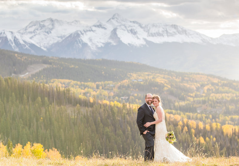 fall wedding in telluride