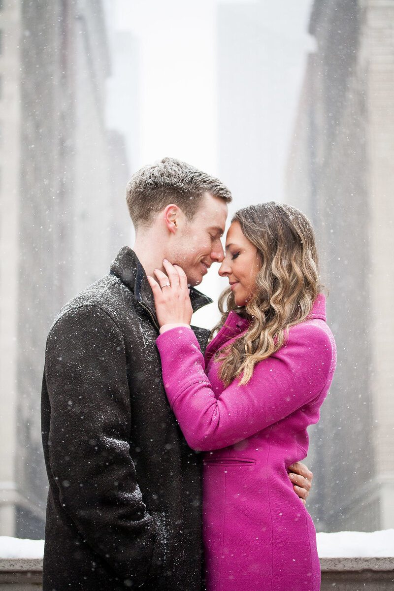 Millennium Park Chicago Illinois Winter Engagement Photographer Taylor Ingles 37