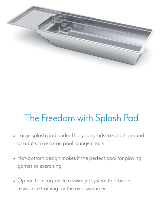 The Freedom with Splash Pad