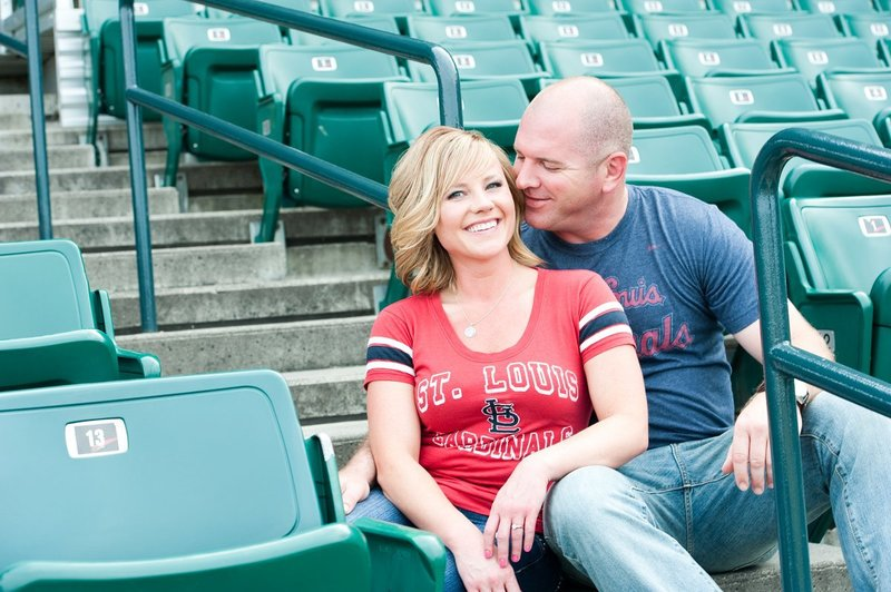 Fargo Red Hawks Engagement session at the stadium by kris kandel (3)