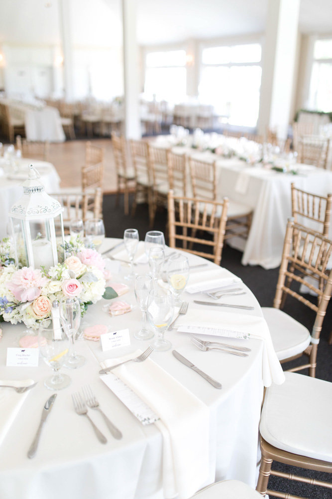 white and gold wedding reception at springfield manor winery and distillery wedding by costola photography