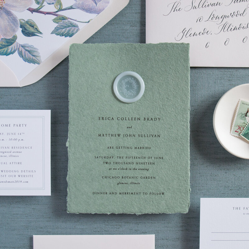 © Kelly McDevitt Design_Erica and Matthew Wedding Invitation