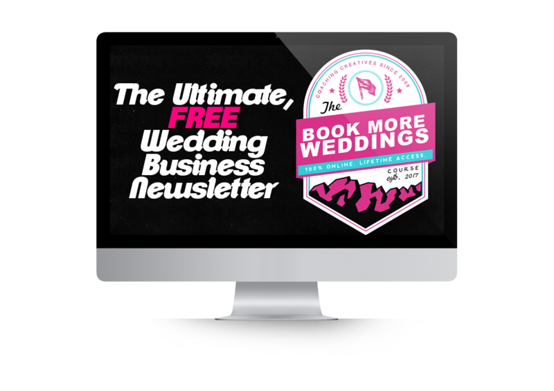 Book More Weddings Newsletter Badge