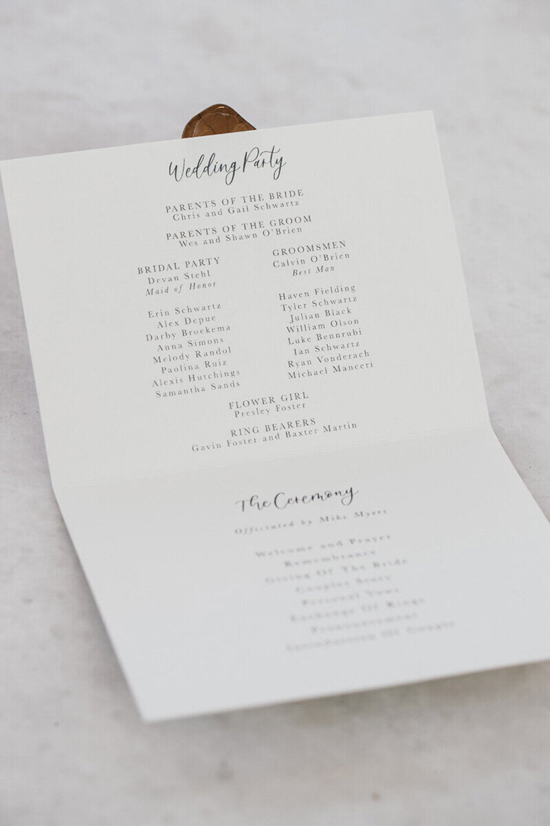 pirouettepaper.com | Wedding Stationery, Signage and Invitations | Pirouette Paper Company | Menus + Programs 19