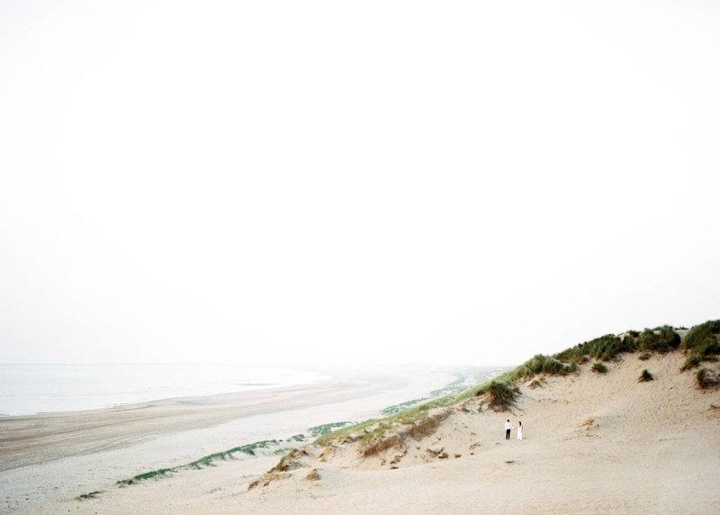 Lin & Marijn | engagement session photography at the beach the netherlands8