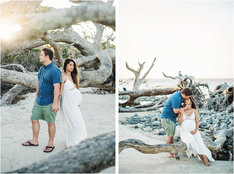 driftwood beach maternity session