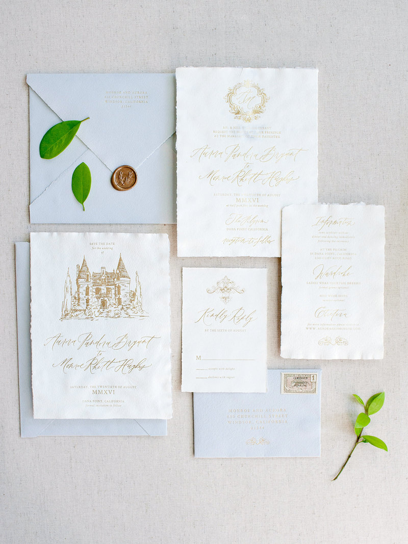 Romantic Chateau Semi-Custom Invitations