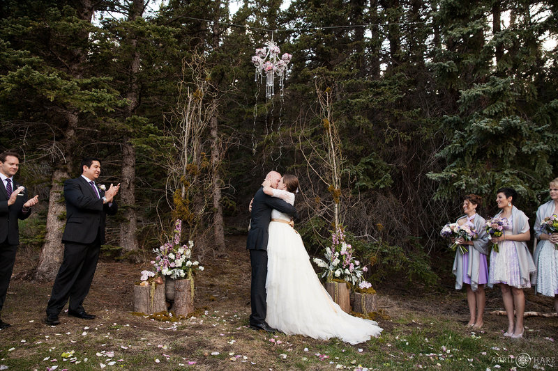 Enchanted Forest Wedding Ceremony Vibe at Mountain View Ranch in Colorado