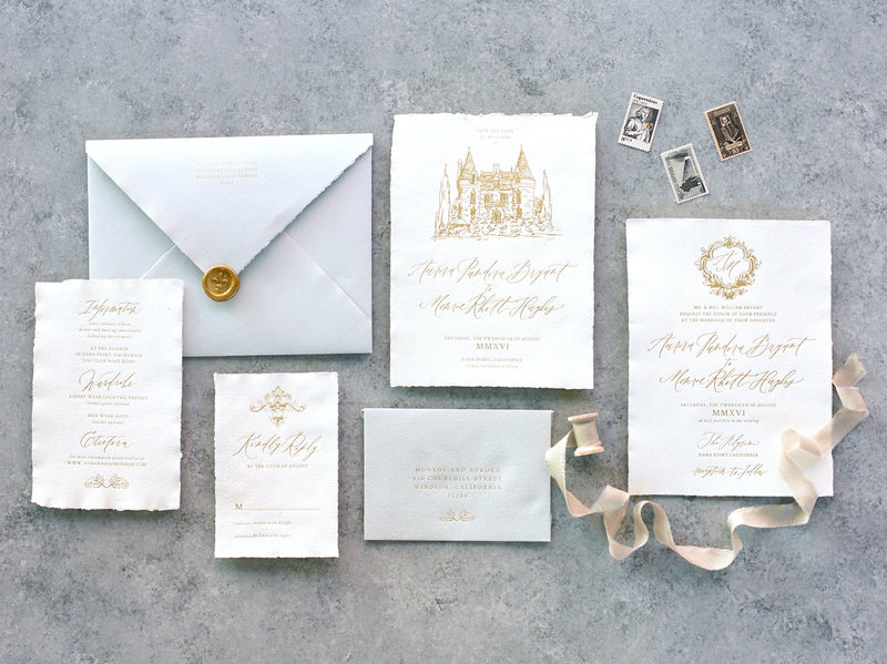 Romantic Chateau Semi-Custom Invitation Suite