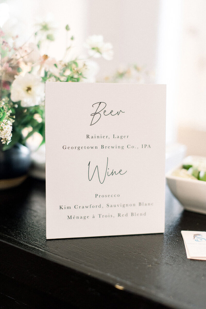 pirouettepaper.com | Wedding Stationery, Signage and Invitations | Pirouette Paper Company | Bar Signs and Bar Menus | Watercolor Signature Drinks 24