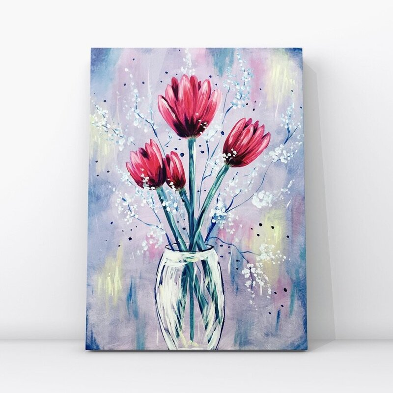 Easy Acrylic Painting Tulips