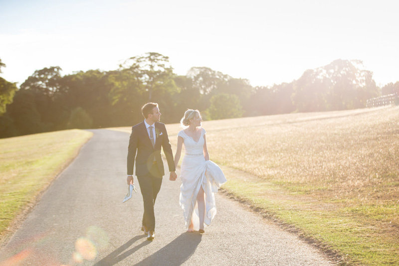 Evening summer wedding photo at Bridwell Park Wedding Devon
