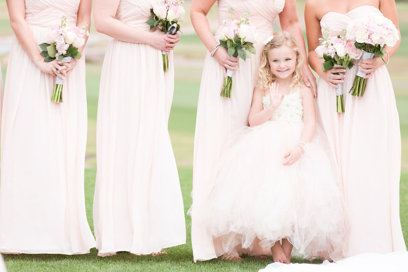 Blush Flower Girl Bridesmaids Scottsdale Arizona | Amy & Jordan Photography