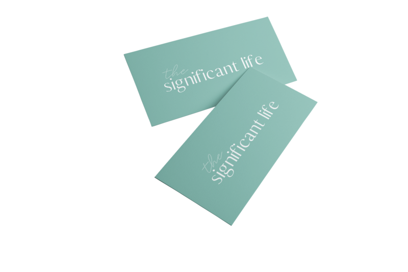 Significant Life Logo Card