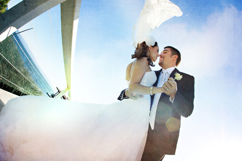 bride and groom romantics