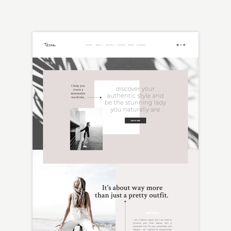 The Roar Showit Web Design website Template Tessa Shop Image