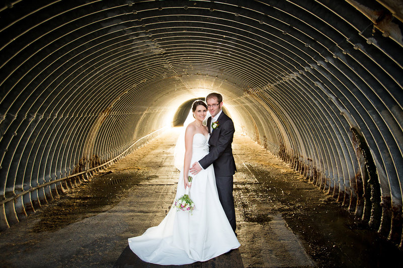 Carmel Mountain Ranch wedding photos bride and groom in drian