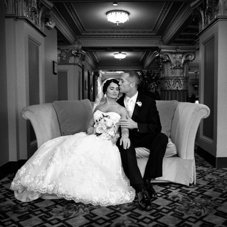 Couple beautifully posed  at the President Hotel writes amazing reviews for Photos Edge