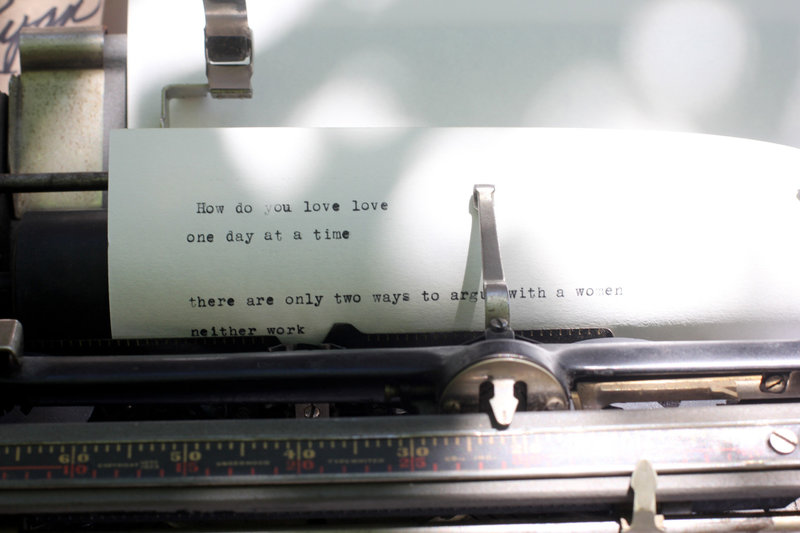 typewriter wedding