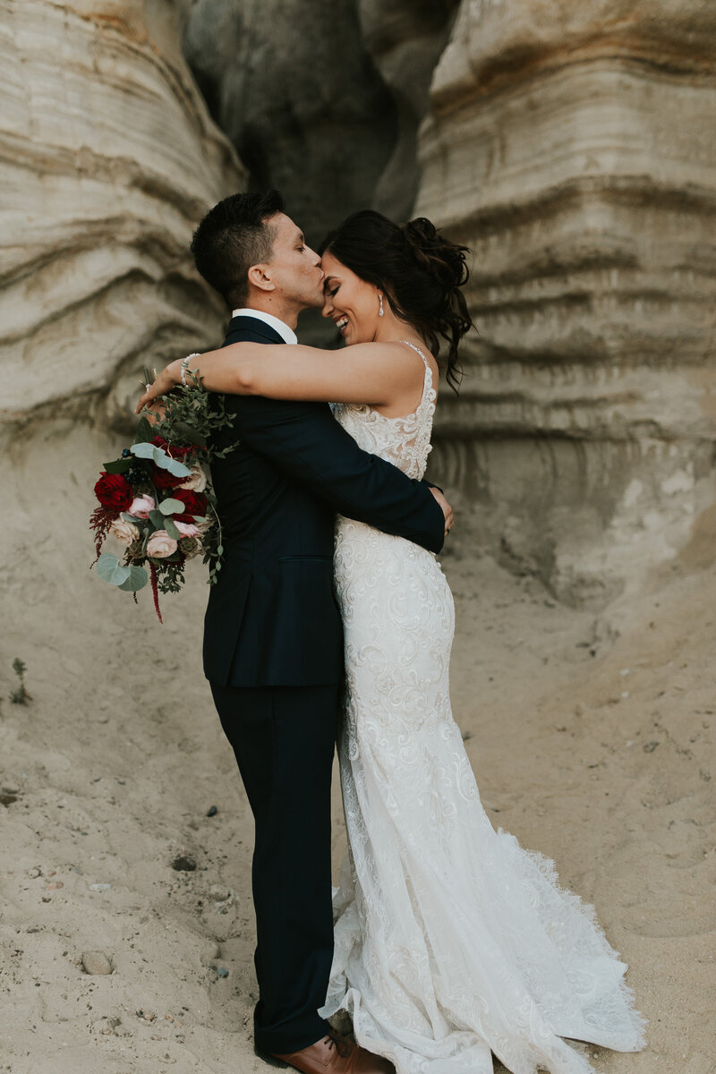 shaver lake intimate wedding near yosemite