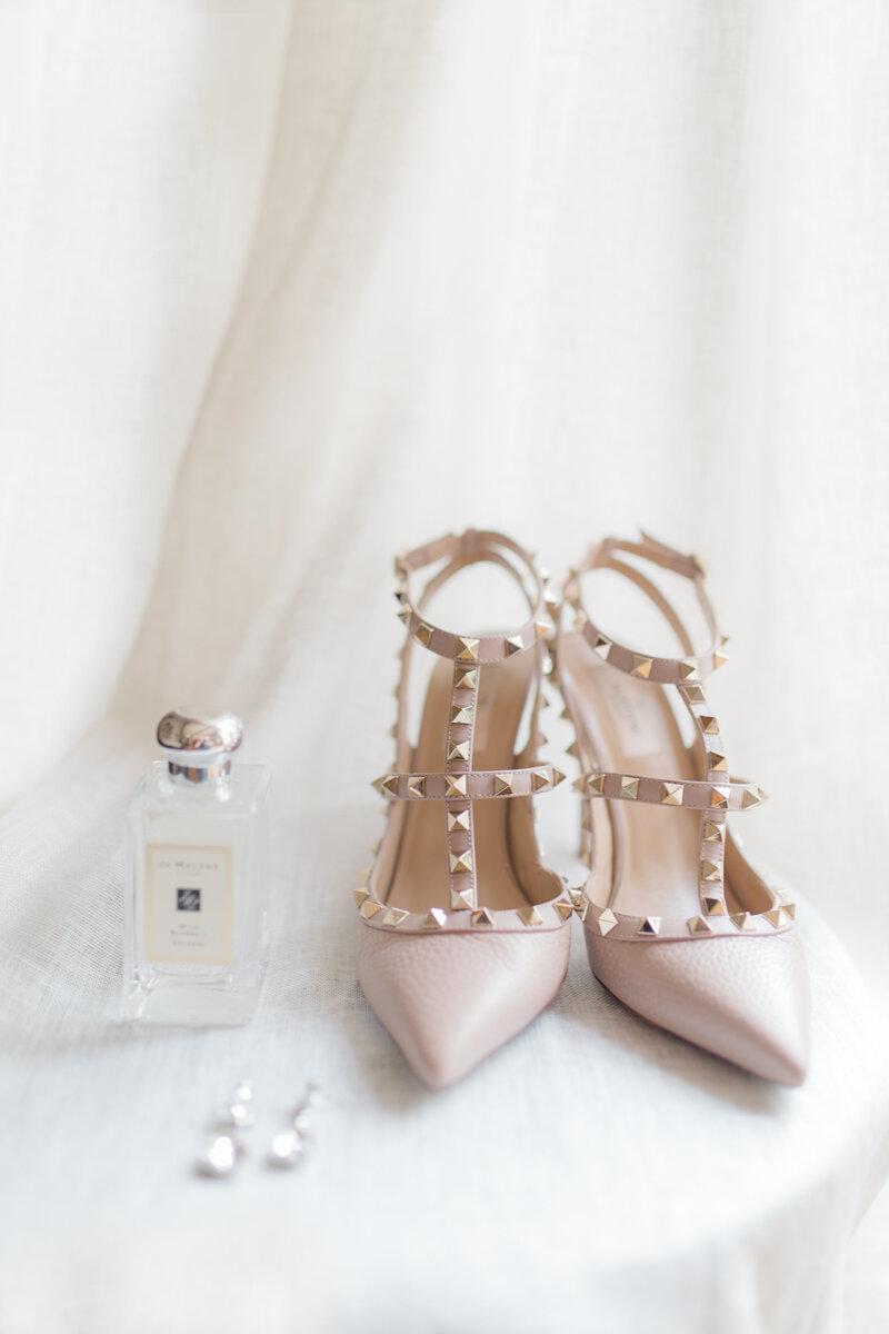 valentino heels at French Inspired Private Estate wedding in charlottesville virginia by costola photography