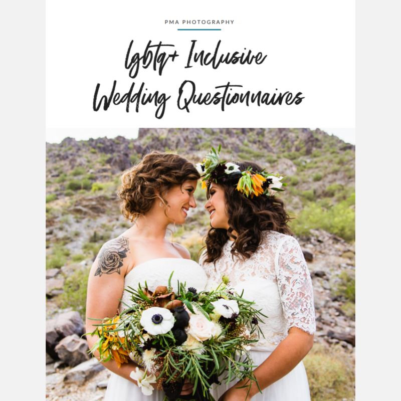 LGBTQ+ Inclusive Wedding Questionnaires - Cover