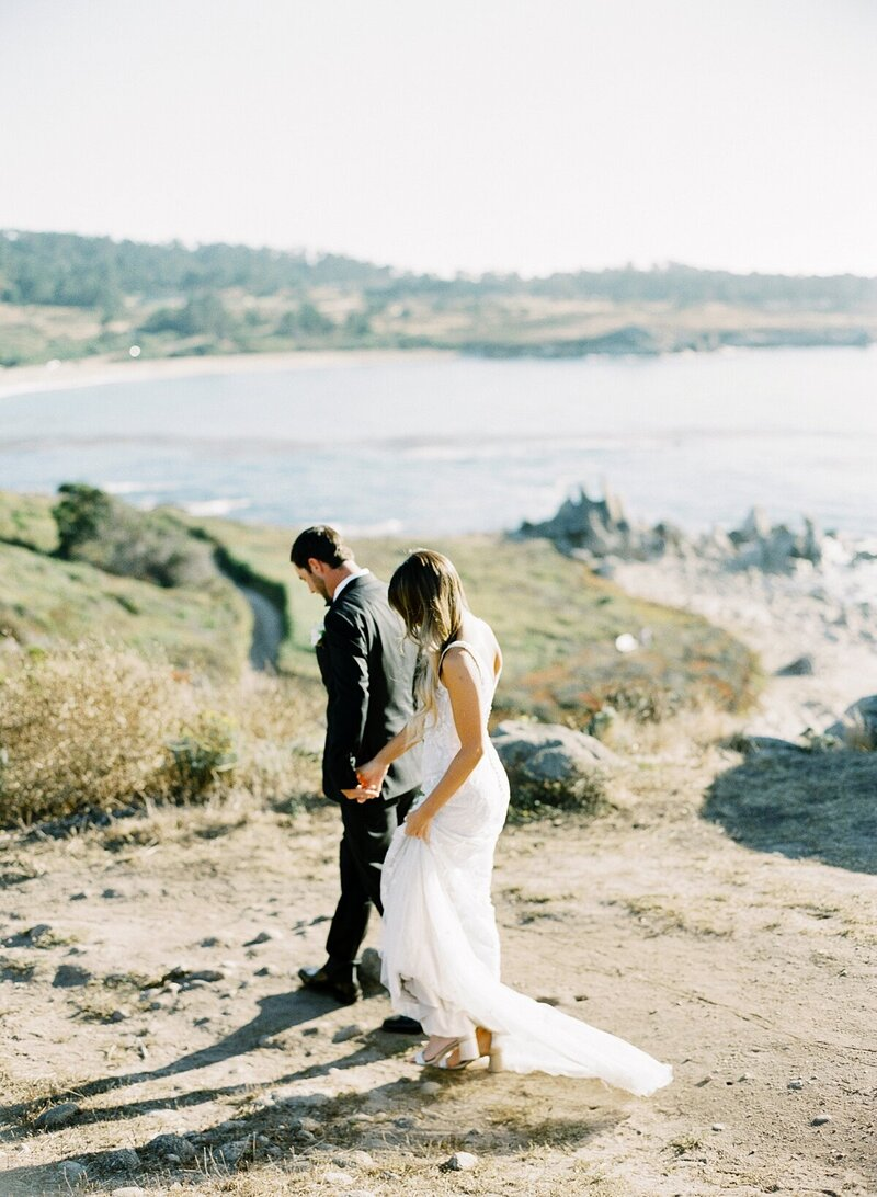 Secret elopement photography in Big Sur
