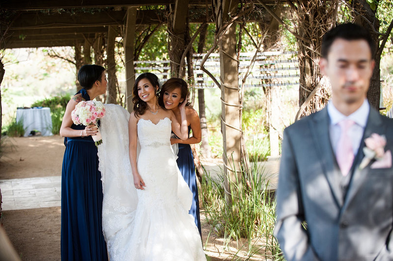 Bride hugs bridesmaids before First Look.jpg