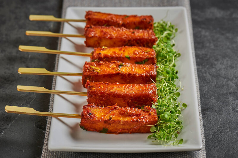 Grilled satay on sticks