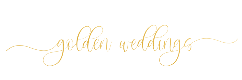 golden weddings gold