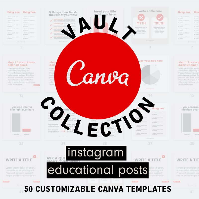 the CANVA VAULT COLLECTION