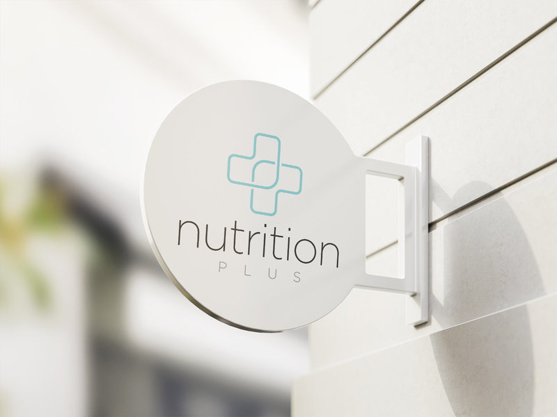 Nutrition Plus Office Signage