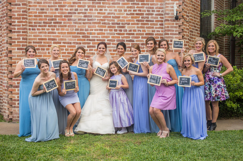Bridal Party with signs