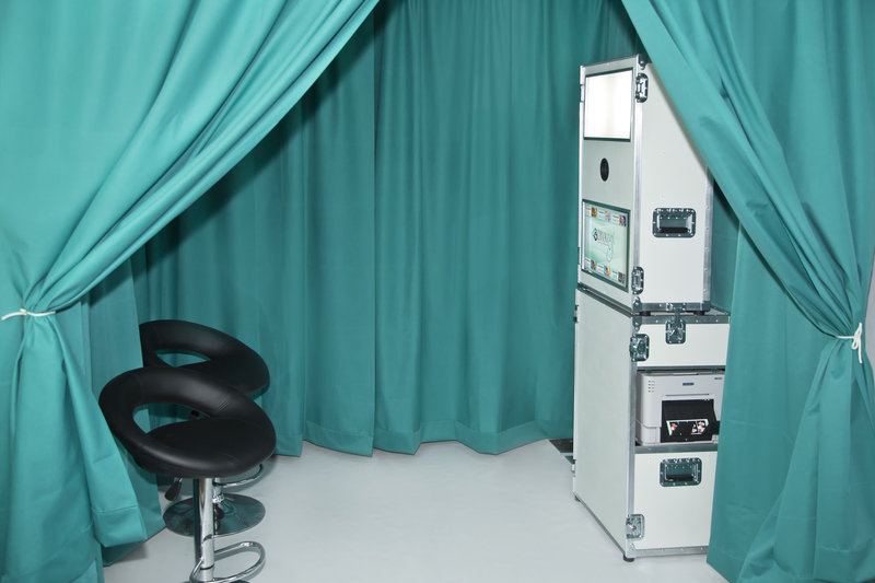 Photo Booth Pipe and Drapes enclosure 1