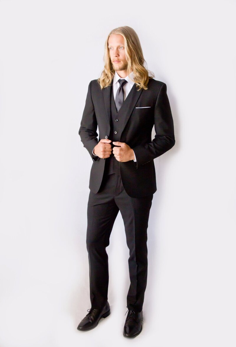 black-groom-suit