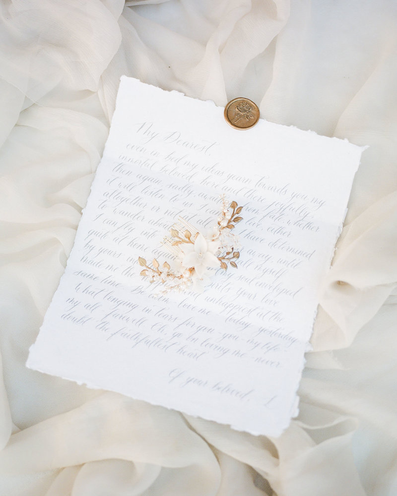 Plume & Fete calligraphy vow love letter