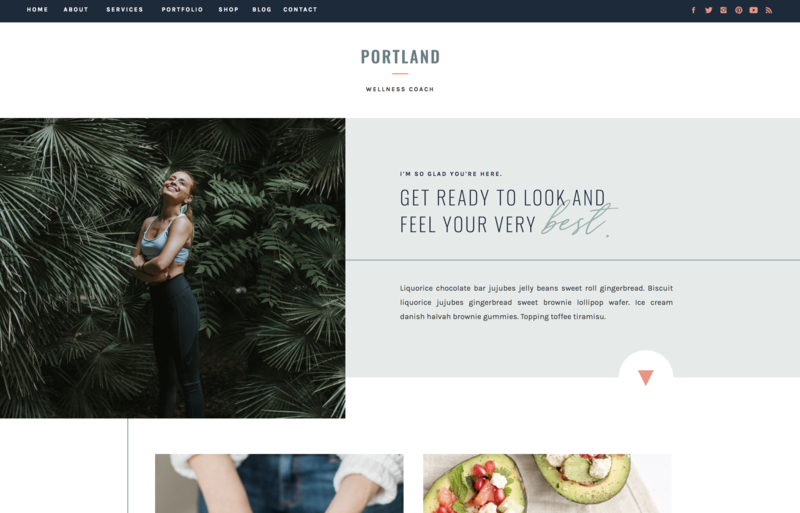 with grace and gold website template portland