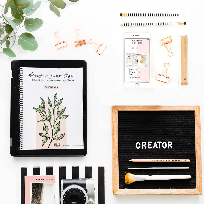 Design Your Life Workbook Flatlay