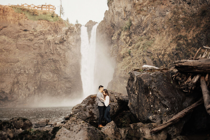 Snoqualmie Falls Engagement Photographer