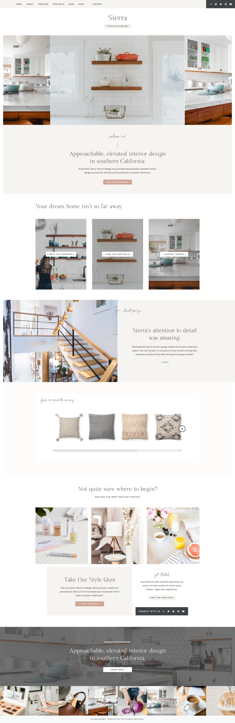 With Grace and Gold - Best Showit Design, Designs, Designer, Designers, Theme, Themes, Template, Templates for Photographers and Creative Small Business Owners
